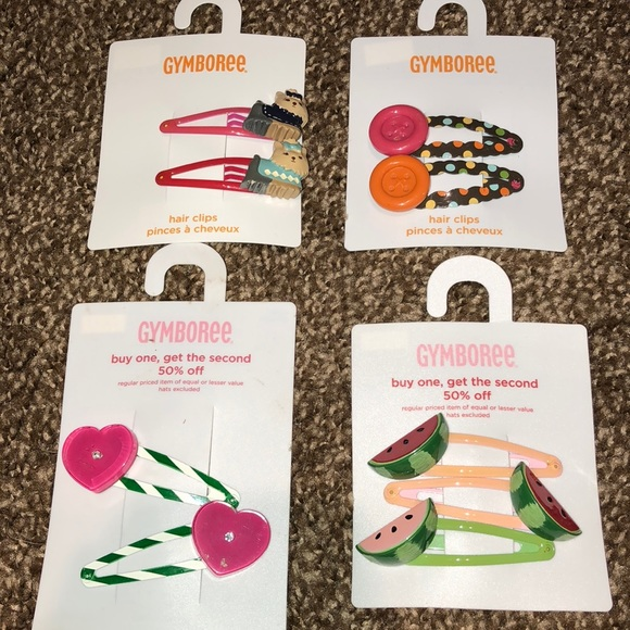 Gymboree Other - Gymboree Hair Clips- Brand New